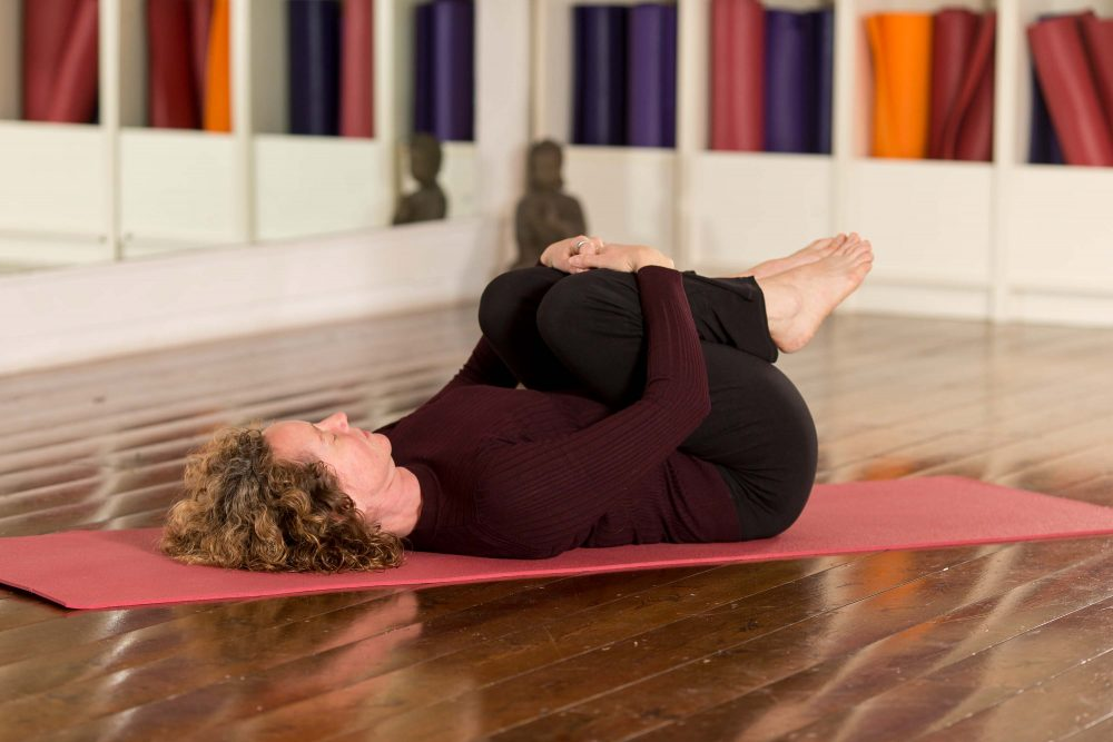 Knees to Chest beginners yoga